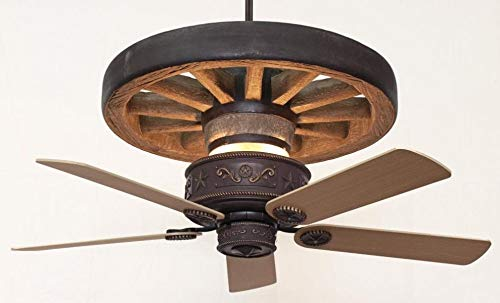 KIVA Western Star Wagon Wheel Ceiling Fan with 60