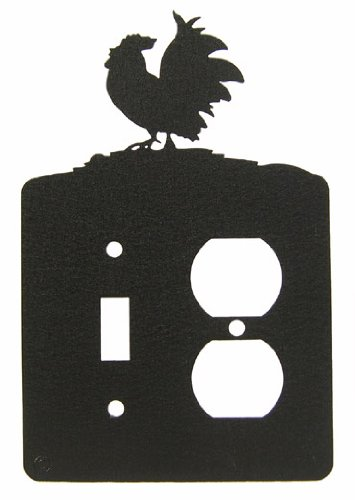 Poultry Rooster Chicken Single Light Switch & Outlet Plate Cover