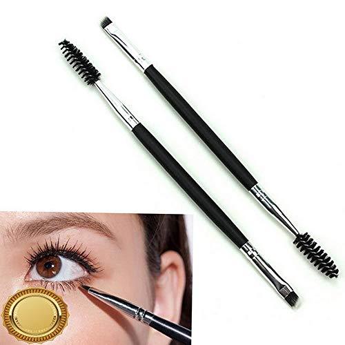 Gatton Eyebrow Double Ended Flat Angled Eyeliner Eyeshadow Brow Mascara Makeup Brush HQ | Style MKPBRUSH-21181549 -