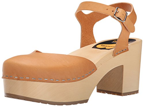 Swedish Dress (Swedish Hasbeens Women's Krillan Heeled Sandal, Nature, 38 EU/8 M US)