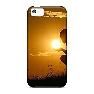 New Style Charming YaYa Sun Amber Premium Tpu Cover Case For Iphone 5c