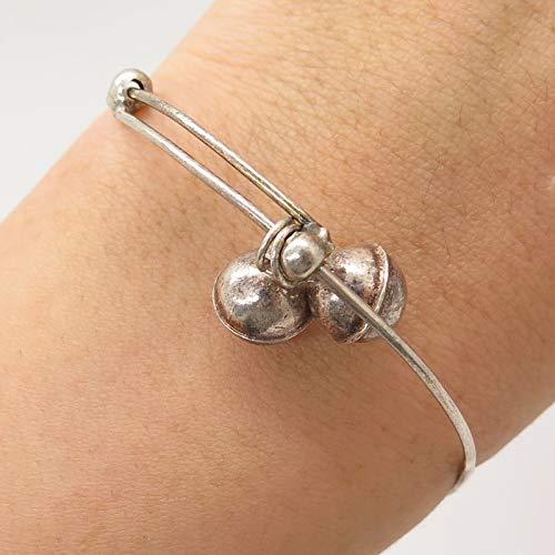 Signed China Vintage 925 Sterling Silver Adjustable Baby Bangle Bracelet 5