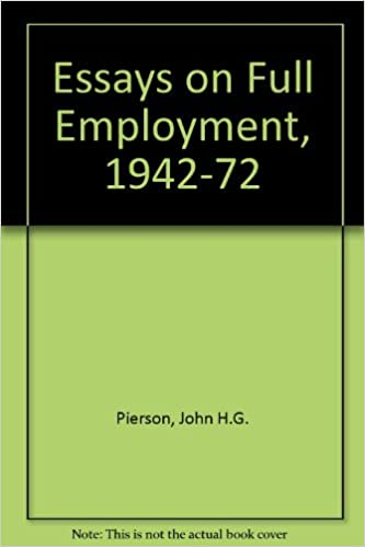essays on full employment john h g pierson  essays on full employment 1942 72 john h g pierson 9780810805545 com books