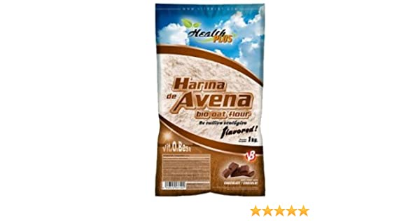 Harina de Avena Sabores Variados - Suplementos Alimentación y Suplementos Deportivos - Vitobest (Chocolate, 1 Kg)