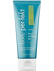 Body Perfection Gel - A Sunless, Natural Tanning Gel With SPF 30 from Per-fekt Beauty, Your Cruelty Free Makeup Solution - Matte Tan, 3 Fl Oz / 90 ml