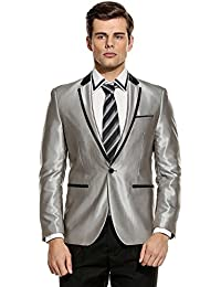 Amazon.com: Silver - Suits & Sport Coats / Clothing: Clothing ...