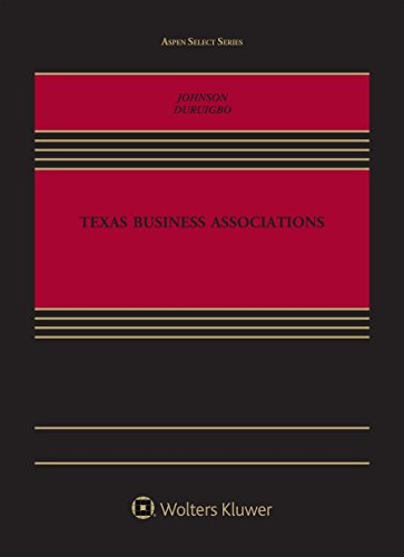 Texas Business Associations (Aspen Select)