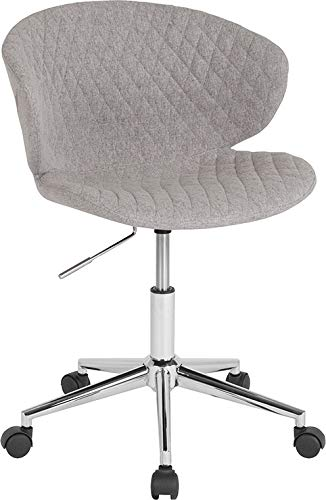 - StarSun Depot Cambridge Home and Office Upholstered Mid-Back Chair in Light Gray Fabric 24.5