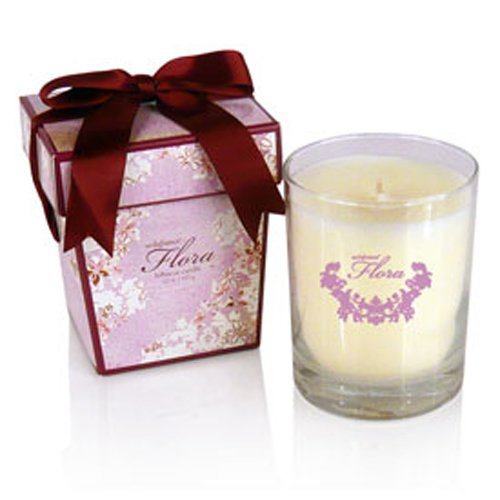 Seda France Flora Hibiscus Bow Adorned Boxed Candle by Seda France