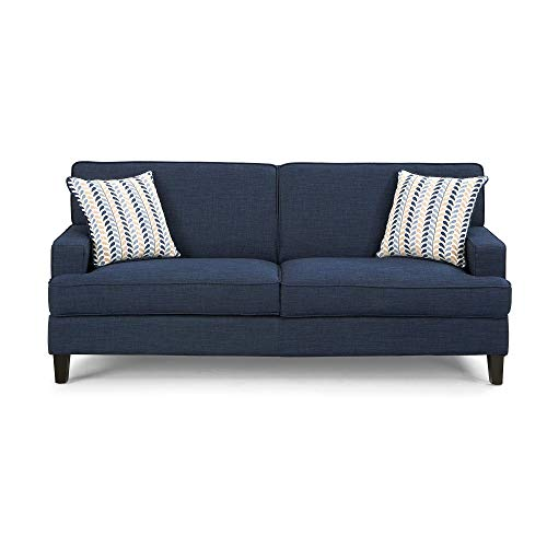 Coaster Home Furnishings Finley Loveseat with Track Arms Blue