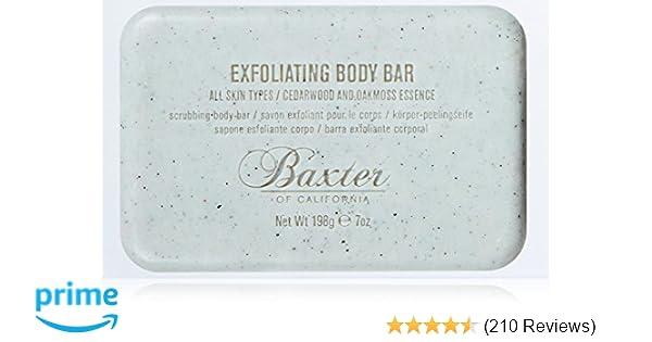 Baxter of California Men's Exfoliating Body Bar Soap, Cedarwood and Oak  Moss Essence, 7 oz