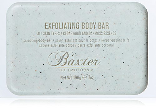 Baxter of California Men's Exfoliating Body Bar Soap, Cedarwood and Oak Moss Essence, 7 oz