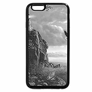 iPhone 6S Case, iPhone 6 Case (Black & White) - guiding light