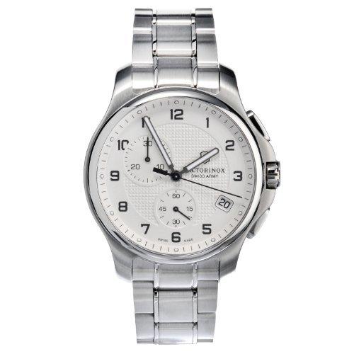 Victorinox-Swiss-Army-Mens-2415541-Steel-Officers-Quartz-Analog-White-Dial-Watch