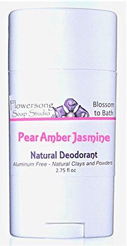 Flowersong Pear Amber Jasmine Natural Deodorant - Aluminum Free