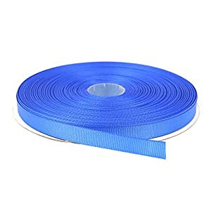Topenca Supplies 3/8 Inches x 50 Yards Double Face Solid Grosgrain Ribbon Roll, Royal Blue