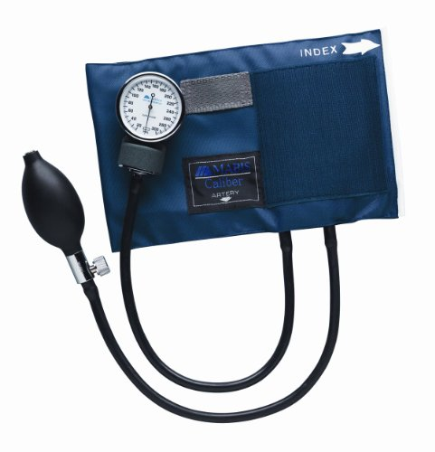 Mabis Caliber Series Aneroid Sphygmomanometer Manual Blood Pressure Monitor, Cuff Size 16.1 to 24.2 Inches, Thigh