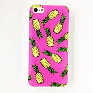 Pineapple Pattern Plastic Hard Case for iPhone 4/4S , Multicolor