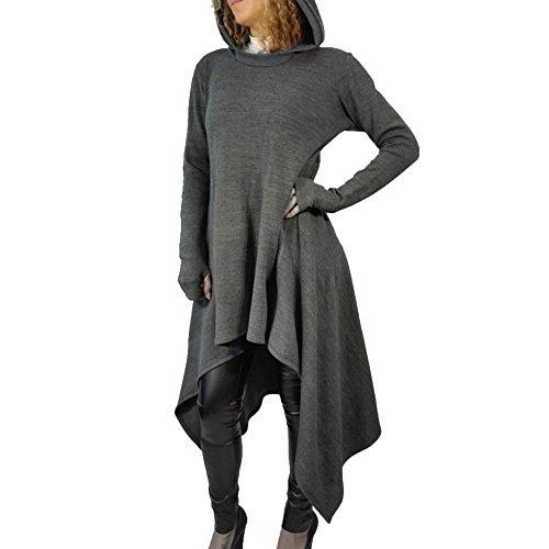 long cowl neck hoodie - 3