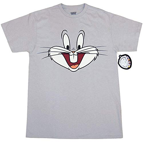 Looney Tunes Character Face T-Shirt (Bugs Bunny, Grey, Medium) for $<!--$14.99-->