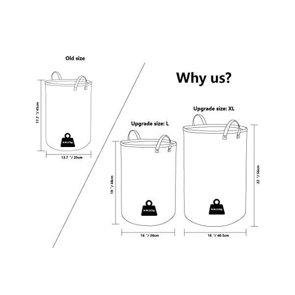 41Eo6Bwj5CL DOKEHOM 19-Inches Verdickte Faltbare Runde Lagerung Wäschekörbe, Baumwolle (Violett, L) EINWEG
