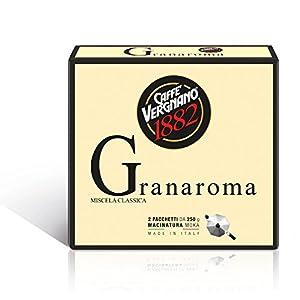 Caffè Vergnano 1882 Caffè Macinato Granaroma - 8 confezioni da 500 gr (totale 4 Kg)