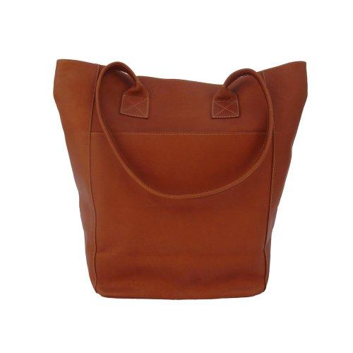 Piel Leather Xl Shopping Bag, Saddle, One Size