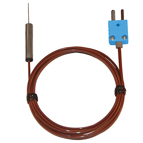 Digi-Sense Type-T Hypod ermic Probe Mini Conn 2.25 L .063 Dia Grd 2.5ft FEP Cable