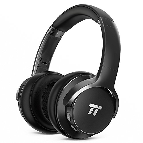TaoTronics Active Noise Cancelling Bluetooth Headphones HiFi Stereo Wireless Over Ear Deep Bass Headset w/CVC Noise Canceling Microphone 30 Hour Playtime Comfortable Earpads for Travel Work TV Phone