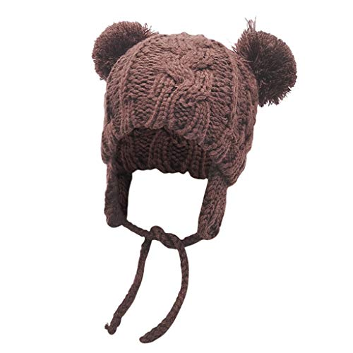 Palarn Newsboy Caps Bomber Cowboy Hats Berets Children Pure Color Keeping Warm Knitted Wool Hat Hairball Cap