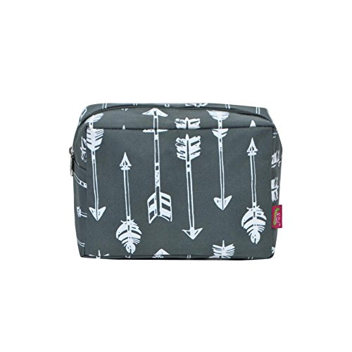 N. Gil Large Travel Cosmetic Pouch Bag 2 (Arrow Grey)