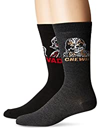 Disney Men's Star Wars 2 Pack Crew Socks