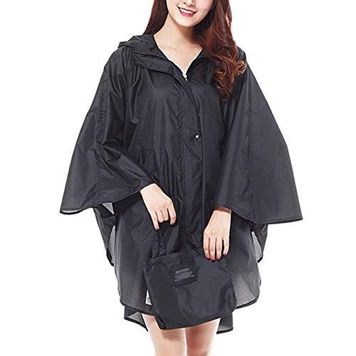 Pioggia Donna Classiche Parka Antivento Da Lunga Esterno Donne Giacca Funzionale Cappotto Fashion Impermeabile Schwarz Sportiva Laisla Lungo Cxq4t8