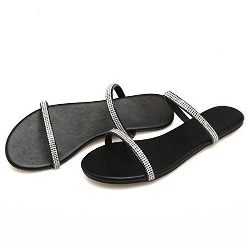 Pantoufles Confort 5 Ete TAOFFEN Femmes Black dUwqxqCE