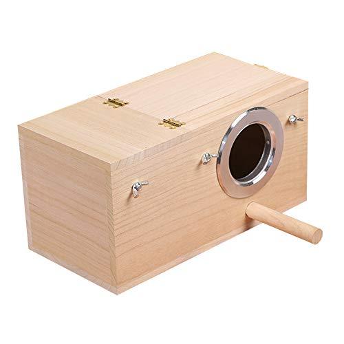 (Pet Wood Parakeet Budgie Cockatiel Breeding Nesting Bird Avery Cage Box (L))