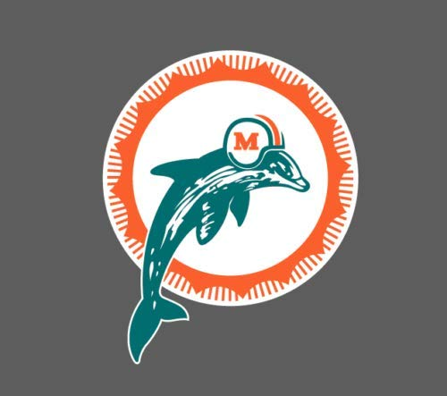 - Miami Dolphins Vinyl Decal for Car Bumper Sticker Window Laptop Truck 6