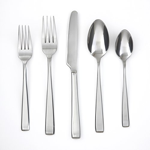 (Cambridge Silversmiths 168660OPN12XDS Payten Mirror 60 Piece Flatware Set, Silver)