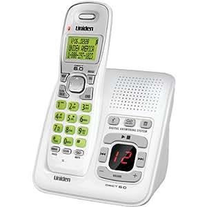 Uniden D1483 DECT 6.0 1-Handset 1-Line Digital Cordless Phone, White
