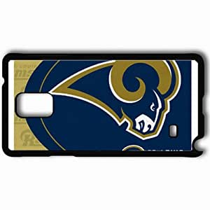 Personalized Samsung Note 4 Cell phone Case/Cover Skin 654 st louis rams Black by lolosakes