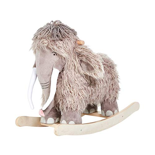 labebe - Plush Rocking Horse, Mammoth Rocker, Stuffed Rocker Toy for Child 1-3 Year Old, Kid Ride On Toy Wooden, Rocking Animal with Wheel for Infant/Toddler Girl&Boy, Nursery Birthday Gift