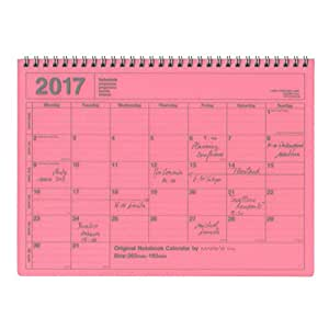 MARK'S 2017 Agenda NoteBook Calendar M size Pink