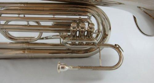 Schiller Field Series Professional BBb Marching Tuba - Nickel