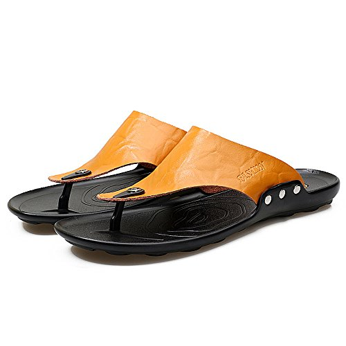 Hombres Calzado Clásico Flops Hombres Amarillo Diapositivas Flip Inicio Zapatos Playa Casual ALIKEEYZapatillas xaq7YFwF