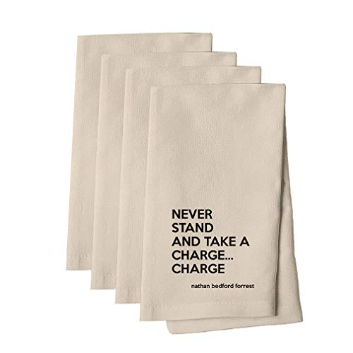 - Charge Them Too (Nathan Bedford Forrest) Cotton Canvas Dinner Napkin, Set of 4