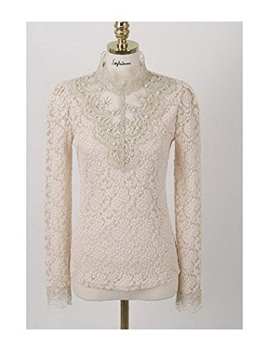 Women's Clothing Lace Blouse Income Woman Shirts with Lon...