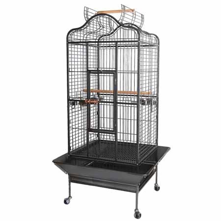 """32""""x30""""x61"""" Large Parrot Bird Cages House Open Playtop Dome"""