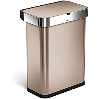 Amazon Com Simplehuman 58 Liter 15 3 Gallon Stainless