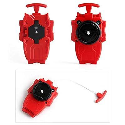 Battling Toys Burst Booster CHO-Z SPRIGGAN.OW.ZT B-128 Starter with Battling String Launcher Burst Bey Launcher LR (Left & Right Turning) Red