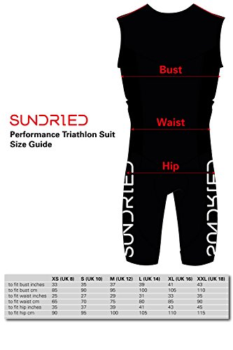 Sundried Womens Premium Padded Triathlon Tri Suit Compression Duathlon Running Swimming Cycling Skin Suit (XX-Large) by Sundried (Image #6)