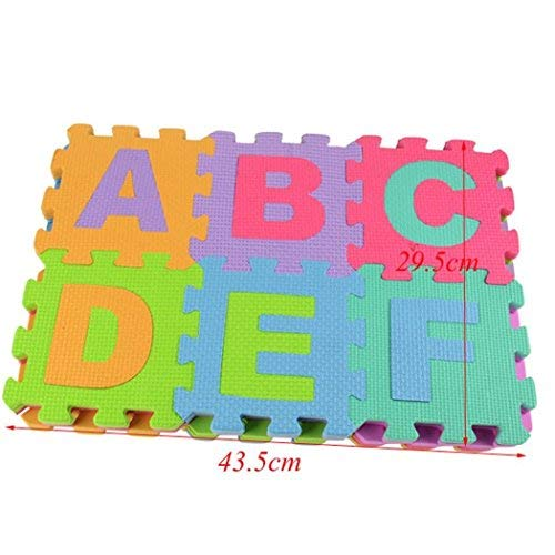 Esqlotres Alphabet & Numbers Soft Foam Play Puzzle Mats Children Kid Puzzle Play Mats